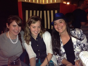 kat in a hat with em and carolyn