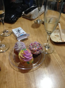 cupcake trio and candy cigarettes