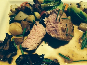 close up veal medallions