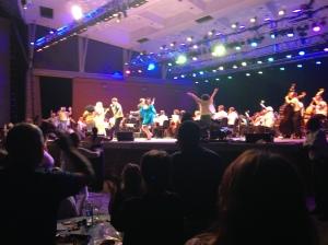 dancing onstage