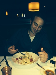 mike w his pasta
