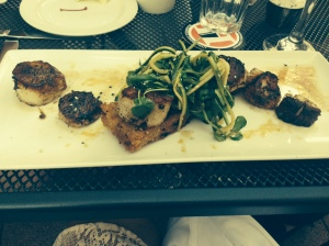 peppered sea scallops