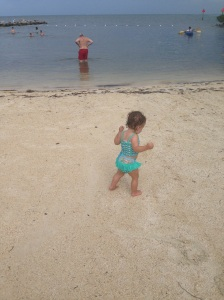 p on da beach