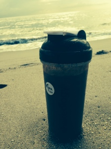 shakeology on the beach