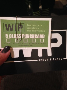 WIP fitness card