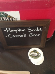 pumpkin scotch and cannolli beer