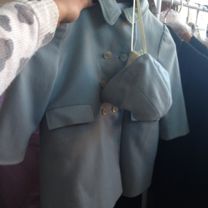 vintage baby coat and hat