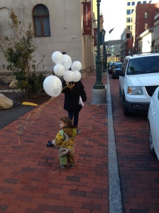 balloons on the street