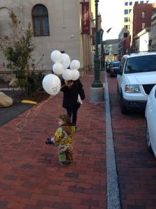 balloons on the street
