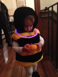 bee and pumpkin