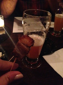 beer and pork belly