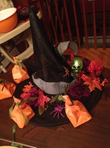 table decor halloween