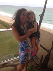 p and mommy on the beach lilly pulitzer