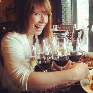 carolyn with wine