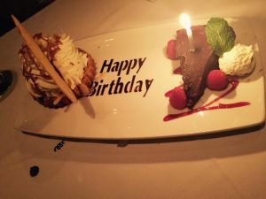 happy birthday dessert